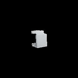 Zaślepka otworu wtyku RJ45/RJ12  pokrywy gniazda teleinformatycznego aluminium-254763