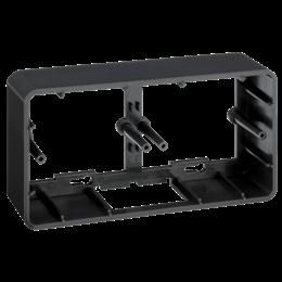 Puszka natynkowa pojedyncza składana K45 2×K45 szary grafit-255813