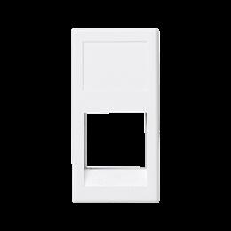 Plakietka teleinformatyczna K45 3M Volition OCK pojedyncza bez osłon płaska 45×22,5mm czysta biel-256346