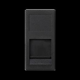 Plakietka teleinformatyczna K45 PANDUIT pojedyncza płaska z osłoną 45×22,5mm szary grafit-256381