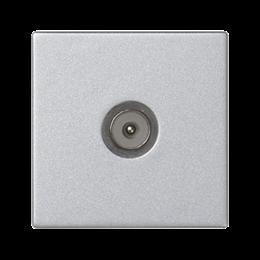 Płytka K45 gniazdo TV męskie 45×45mm aluminium-256489