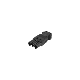 Wtyczka męska GESIS® złącze 3-polowe 16A 250V szary grafit-256603