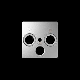 Pokrywa do gniazda antenowego R-TV-SAT aluminium zimne-251284