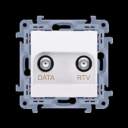 Gniazdo antenowe RTV-DATA tłum.:10dB biały-254500