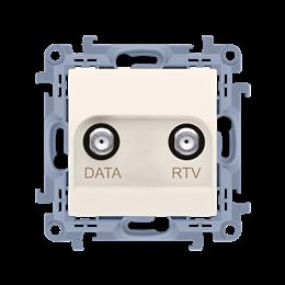 Gniazdo antenowe RTV-DATA tłum.:10dB kremowy-254501