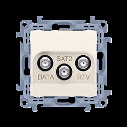 Gniazdo antenowe RTV-DATA-SAT tłum.:1,5dB kremowy-254503