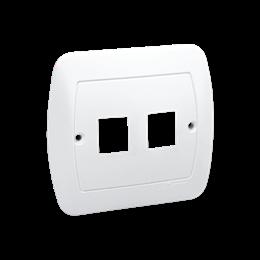 Pokrywa gniazd teleinformatycznych na Keystone płaska podwójna biały-255705
