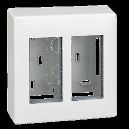Obudowa natynkowa SIMON 500 2×S500 4×K45 czysta biel-255786