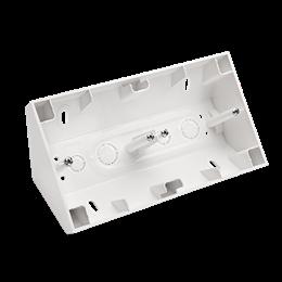 Puszka natynkowa narożna 2-krotna biały-251675