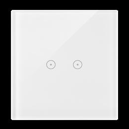 Panel dotykowy 1 moduł 2 pola dotykowe poziome, biała perła-251710