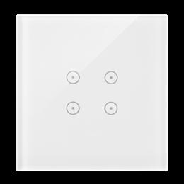 Panel dotykowy 1 moduł 4 pola dotykowe, biała perła-251711