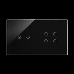 Panel dotykowy 2 moduły 2 pola dotykowe poziome, 4 pola dotykowe, zastygła lawa-251731