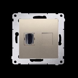 Gniazdo HDMI pojedyncze złoty mat, metalizowany-253023