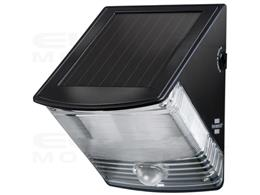 Lampa ścienna SOL 04 plus IP44 z czujnikiem ruchu na promieniowanie podczerwone 2xLED 0,5W 85lm Kolor Czarny-248499