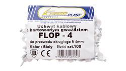 Uchwyt kablowy okrągły fi 4mm FLOP-4 27.04 /100szt./-39173