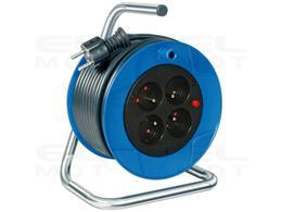 Brennenstuhl Garant Kompakt przedłużacz bębnowy (Bęben kablowy 15m kabel w kolorze czarnym, wykonany ze specjalnego tworzywa szt