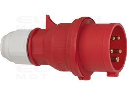 Brennenstuhl wtyczka CEE 400V/16A (do zastosowań zewnętrznych IP44, bezśrubowa technika łączenia, 5-biegunowa, Made in Germany)-