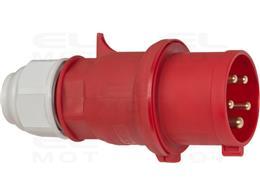 Brennenstuhl wtyczka CEE 400V/32A (do zastosowań zewnętrznych IP44, bezśrubowa technika łączenia, 5-biegunowa, Made in Germany)-