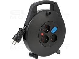 Brennenstuhl Vario Line puszka kablowa z USB i 3 gniazdami / przedłużacz na bębnie do użytku wewnętrznego (bęben kablowy z funkc