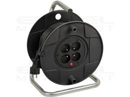 Brennenstuhl Przedłużacz bębnowy 25m H05VV-F 3G1,5 (25m czarny kabel, do użytku wewnętrznego, Made in Germany)-247953