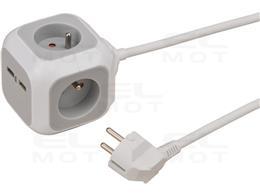 Brennenstuhl ALEA-Power USB-Charger listwa zasilająca a z 4 gniazdami (z 2x USB, kabel 1,4m i zwiększoną ochroną styków)-248002