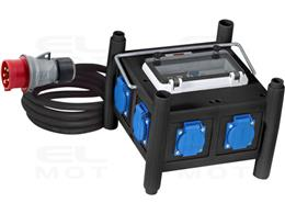 Brennenstuhl Kompaktowy gumowy rozdzielacz mocy BDT 6M / gumowy rozdzielacz z certyfikowanym wyłącznikiem (kabel 2m, 6x 230 V/16