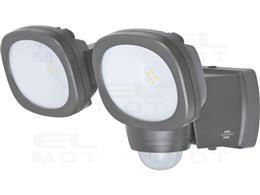 Brennenstuhl LUFOS Reflektor LED z bateriami / Kinkiet Zewnętrzny z baterią i czujnikiem ruchu (Oświetlenie zewnętrzne z 8 wysok
