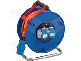 Brennenstuhl CEE 230V przedłużacz bębnowy (25m H07RN-F 3G2,5 kabel w kolorze pomarańczowym, bęben kablowy przyczepy kempingowej