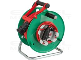 Brennenstuhl Garant G Bretec IP44 Przedłużacz bębnowy do ogrodu (bęben kablowy do kosiarki z kablem 48+2m w kolorze czerwonym, k