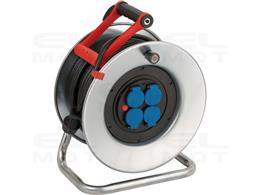 Brennenstuhl Garant S bęben kablowy IP44/przedłużacz bębnowy 50m - blacha stalowa (krótkotrwałe zastosowanie zewnętrzne, Made in
