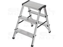 Drabina aluminiowa z obustronnym wejściem, gwarancja najwyższej jakości Poziomy 2x3, Wysokość drabiny stojącej 0,61m-250499