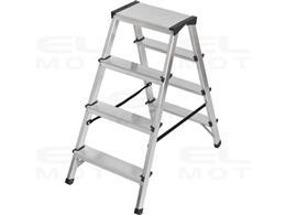 Drabina aluminiowa z obustronnym wejściem, gwarancja najwyższej jakości Poziomy 2x4, Wysokość drabiny stojącej 0,82m-250502