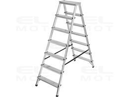 Drabina aluminiowa z obustronnym wejściem, gwarancja najwyższej jakości Poziomy 2x7, Wysokość drabiny stojącej 1,46m-250511