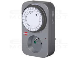 Brennenstuhl Zegar sterujący MZ 20 / programator czasow (wyłącznik czasowy, z podwyższoną ochroną styków) szary-250576