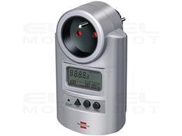 Brennenstuhl Licznik energii Primera-Line PM 231 E (licznik prądu z podwyższoną ochroną przed dotykiem, z 2 indywidualnie ustawi