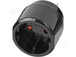 Brennenstuhl Wtyczka podróżna / adapter podróżny (adapter gniazda podróżnego dla: USA, gniazdo japońskie i wtyczka Euro/contour)