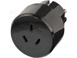 Brennenstuhl Wtyczka podróżna / adapter podróżny (adapter dla: gniazdo Euro i wtyczka Gniazdo Euro i Australia, Chiny) czarny-25