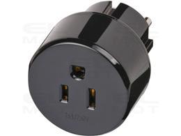 Brennenstuhl wtyczka podróżna / adapter podróżny (adapter do: gniazda wstrząsoodpornego i wtyczki USA, Japonia) czarny-250661