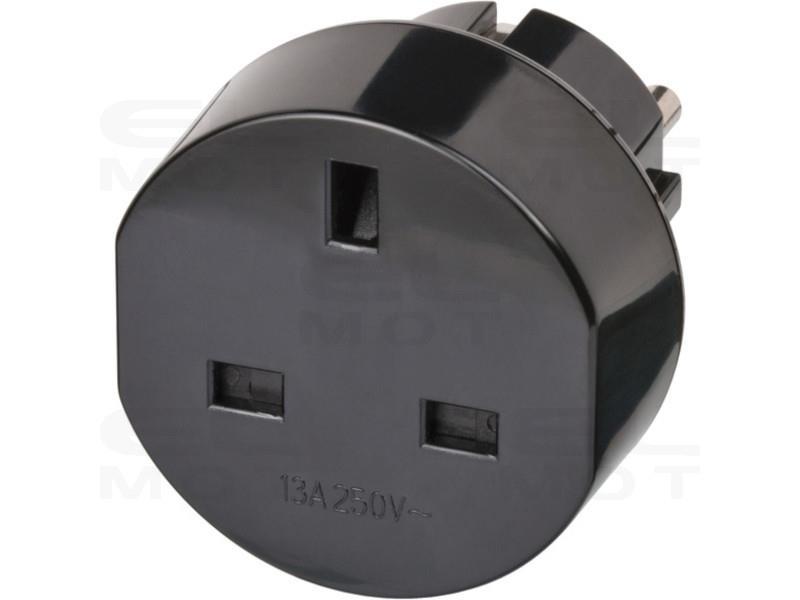Brennenstuhl wtyczka podróżna / adapter podróżny (adapter do: Euro Gniazdo i angielski wtyczka) czarny-250666