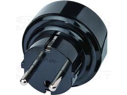 Brennenstuhl wtyczka podróżna / adapter podróżny (adapter do: Euro Gniazdo i angielski wtyczka) czarny-250667