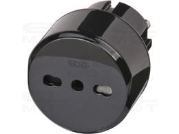 Brennenstuhl wtyczka podróżna / adapter podróżny (adapter dla: gniazda Euro i wtyczki włoskiej) czarny-250676