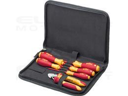 Wiha Zestaw narzędzi dla elektryków Wkrętaki, szczypce do cięcia bocznego, 7-cz. wraz z pokrowcu na narzędzia (33969)-204097