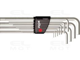 Wiha Zestaw kluczy trzpieniowych w uchwycie Compact sześciokątny niklowany na wysoki połysk 12-cz. (36451)-203942