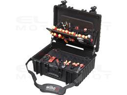 Wiha Zestaw narzędzi w walizce dla elektryka XL zestaw mieszany, 81-cz. wraz z skrzynce narzędziowej (40523)-204100