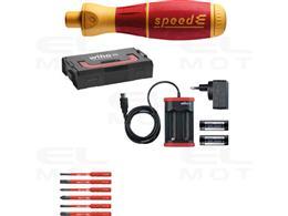 Wiha Wkrętak elektryczny  zestaw 1  speedE płaski, Phillips, PlusMinus/Pozidriv 12-cz. wraz z skrzynce L-Boxx Mini z bitami slim