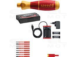 Wiha Wkrętak elektryczny  zestaw 2 speedE Mieszany 15-cz. wraz z kasecie L-Boxx Mini, bitami slimBit, adapterem easyTorque, bate