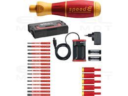 Wiha Wkrętak elektryczny  zestaw 3 speedE mieszany  27-cz. wraz z skrzynce L-Boxx Mini z bitami slimBit, adapterami easyTorque,