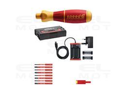 Wiha Wkrętak elektryczny  zestaw 2 speedE mieszane 15-cz. wraz z skrzynce L-Boxx Mini z bitami slimBit, adapterem easyTorque, ba