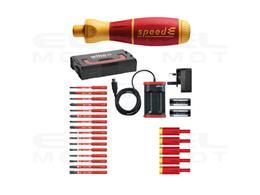 Wiha Wkrętak elektryczny  zestaw 3 speedE mieszane 27-cz. wraz z skrzynce L-Boxx Mini z bitami slimBit, adapterami easyTorque, b