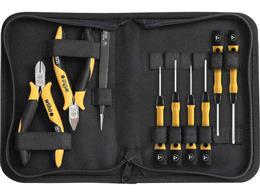 Wiha Zestaw narzędzi ESD szczypce, wkrętaki, pęseta, 10-cz. wraz z pokrowcu na narzędzia (43994)-201287
